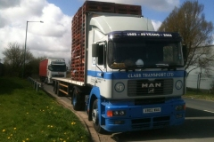 Clark Transport Ltd MAN Truck flatbed trailer with pallets