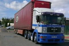 Clark Transport Ltd MAN Truck with curtainsider trailer featuring BigRig