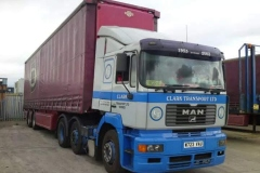 Clark Transport Ltd MAN Truck with curtainsider trailer