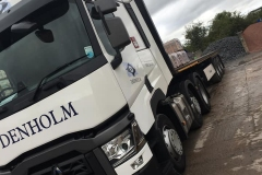 Denholm-Renault-truck-with-flatbed-trailer
