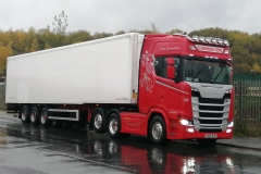 E Howard and Son Scania S500 with Fridge Trailer