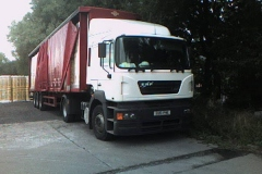 ERF truck with curtainsider trailer