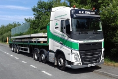 Gwynedd Shipping Group Volvo FH with flatbed trailer