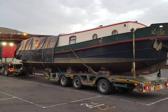 Hutchinson Engineering Services Volvo FH loaded with Narrowboat
