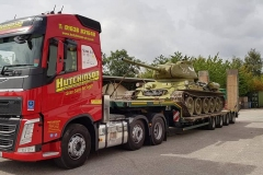 Hutchinson-Engineering-Services-Volvo-FH-with-low-loader-loded-with-Army-Tank