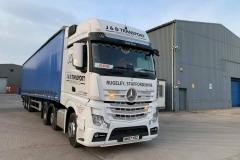 J-D-Transport-Midlands-Ltd-Mercedes-truck-with-curtainsider-trailer