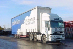J H Davies Iveco Truck with Palletline trailer