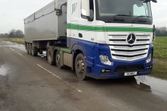 Johnston Wagstaffe Mercedes Actros with Tipper Trailer