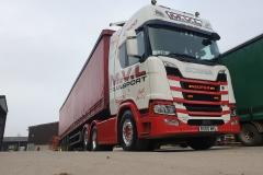 M.V.L Transport Scania Super R500 Bulk Haulage with curtainsider trailer