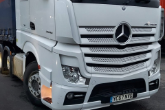 Mercedes Actros Truck with curtainsider trailer