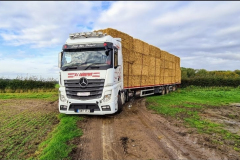 P J Andrews Mercedes Actros loaded with bales