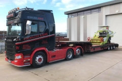 P W Wilcox and Sons Scania R500 low loader