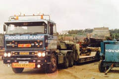 Rochester Plant ERF with low loader trailer
