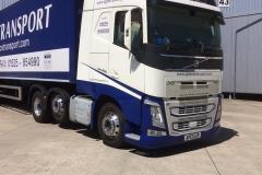 S J Pierce Transport Volvo Truck