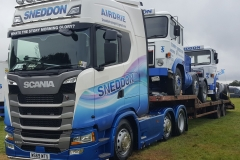 Sneddon-Scania-S500-with-Piggy-Backs-on-Low-Loader-Truckfest-2019