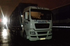 TDS Tyldesley Distribution Services LTD truck loaded with Pallets