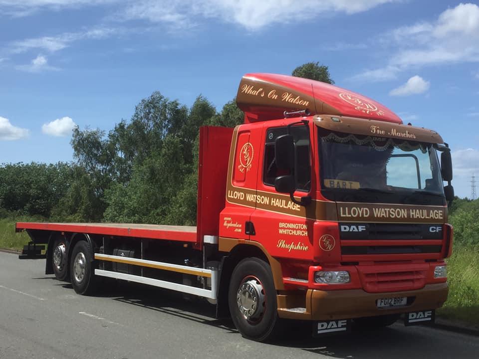 Loyd Watson Haulage DAF CF Flatbed Rigid Truck Featuring Bart
