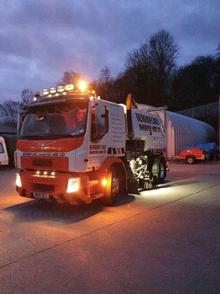 Berrisford Sweeper Hire Ltd Volvo road sweeper truck