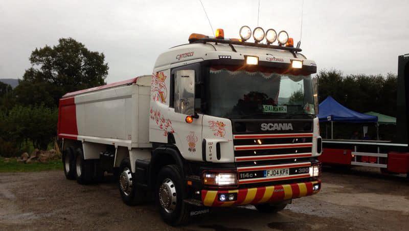 Cymru Wales Scania 380 114c Rigid Tipper