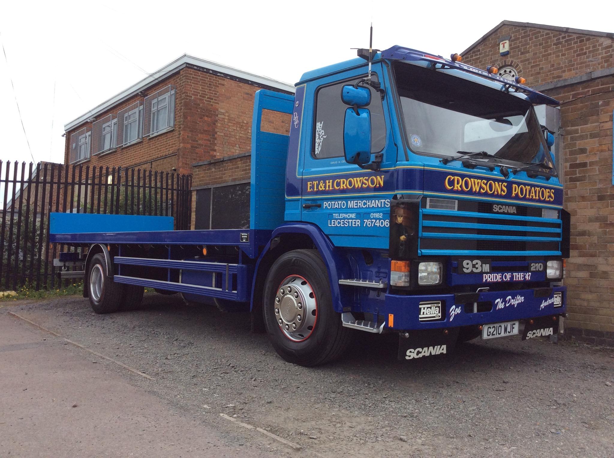 ET-and-H-Crowson-Potato-Merchants-Scania-210-Flatbed-Rigid