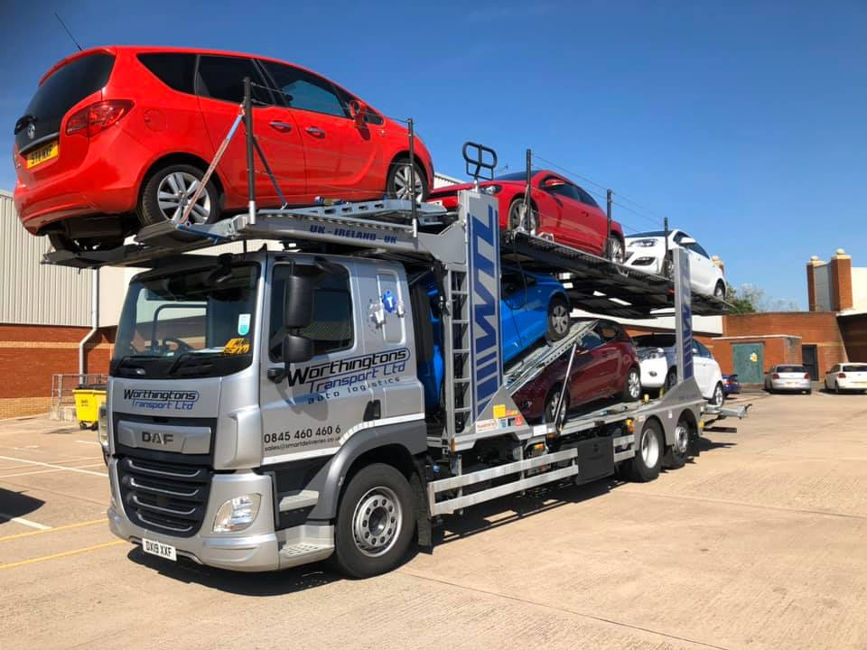 Worthingtons Transport LTD  Auto Logistics DAF Car Transporter
