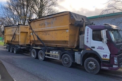 Dusty Bin Ltd Volvo Skip wagon and drag Lorry