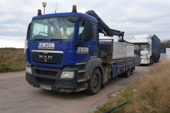 Jewson MAN truck with grab