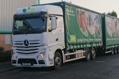 Linlar Mercedes Actros Wagon and Drawbar lorry