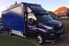 Steves Removals Iveco Light haulage vehicle with curtains