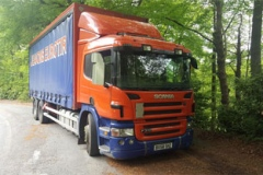 Scania curtainsider rigid 6 wheeler