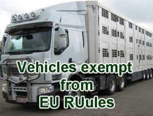 Vehicles exempt from eu rules