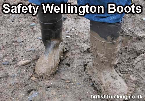 safety wellington boots truck driver PPE