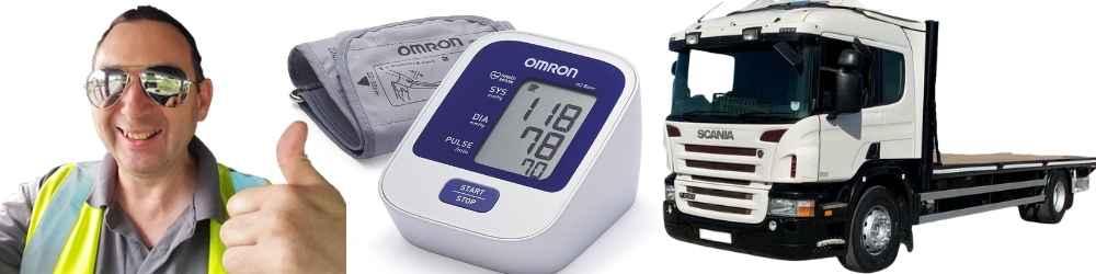 high blood pressure lorry driving