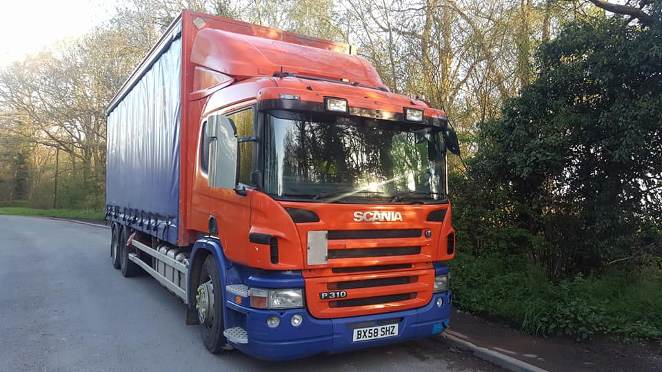 Scania P310 Rigid Curtainsider