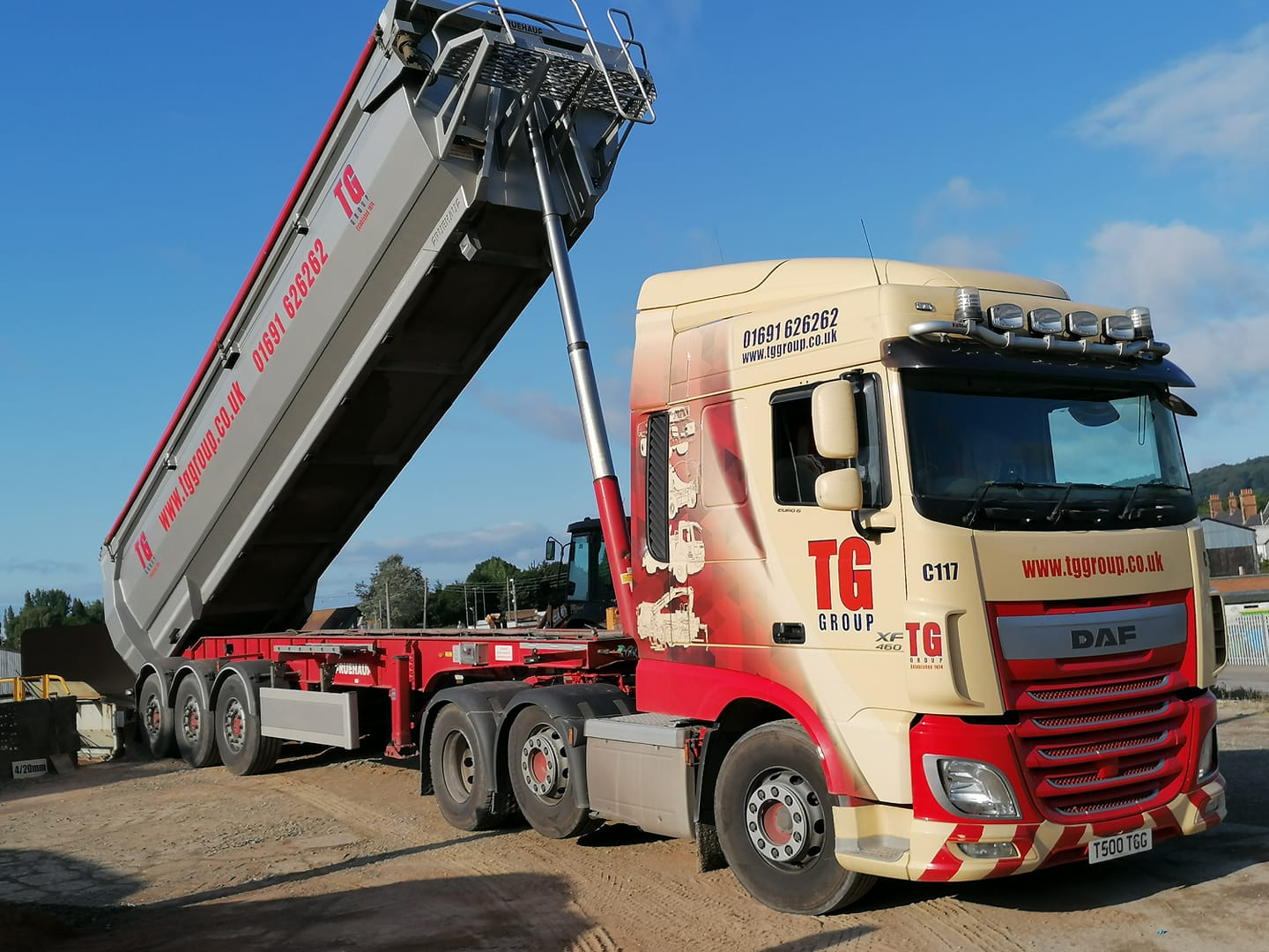 Tudor Griffiths Group DAF XF 460 Tipper Tipping Load