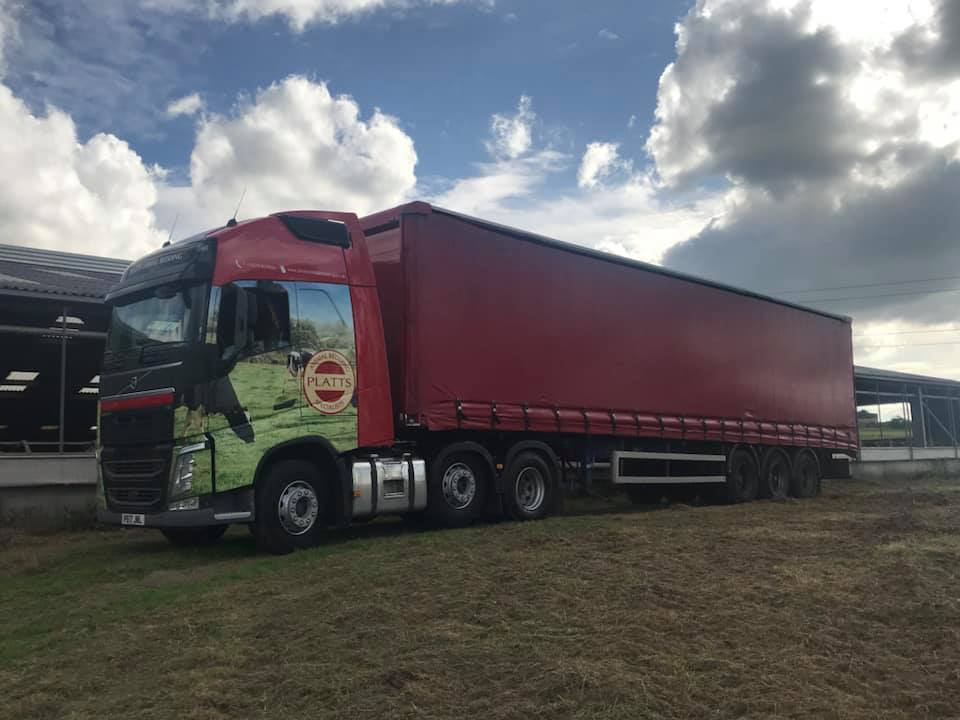 Platts Animal Bedding Specialists Volvo Curtainsider