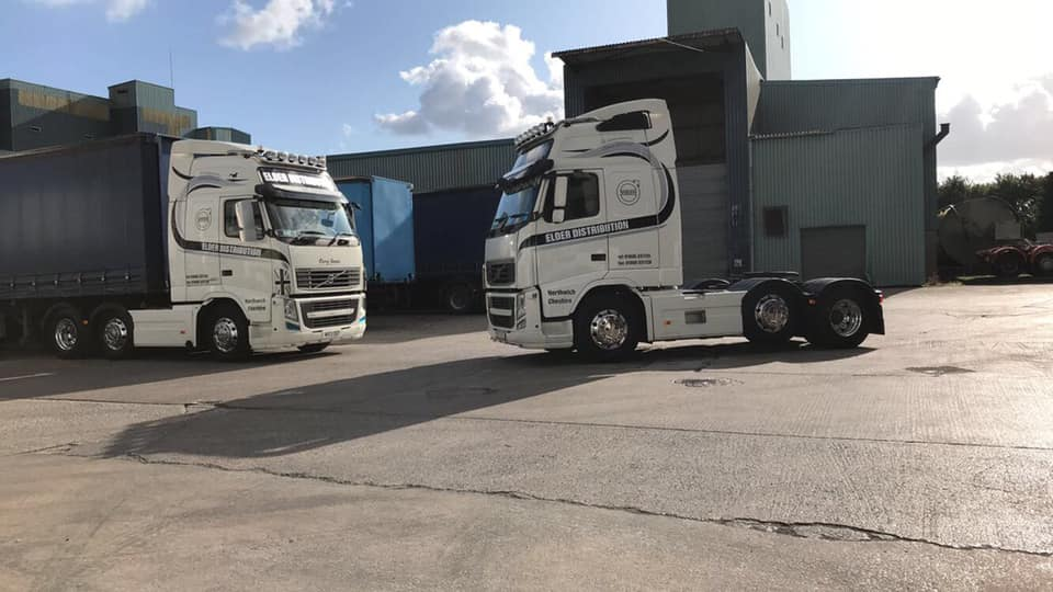 Elder Distribution Volvo Tractor Unit and Curtainsider