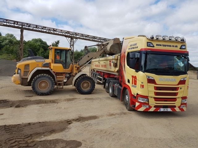 Tudor Griffiths Group Scania Tipper Loading