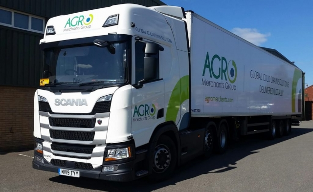AGRO Merchants Group Scania R450 with refrigerated trailer