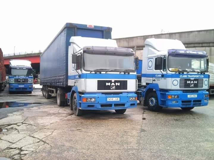 Clark Transport MAN tractor unit and other with curtainsider