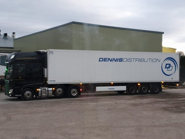Dennis Distribution DAF with white trailer