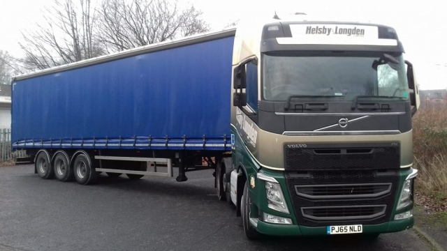Helsby Longden Volvo FH with curtainsider trailer