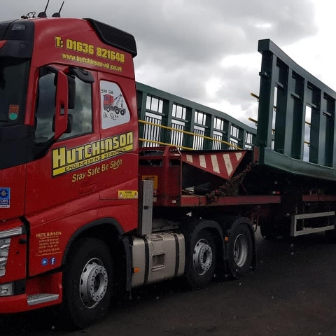 Hutchinson Engineering Services Volvo FH Truck with bridge section on trailer