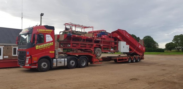 Hutchinson Engineering Services low loader carrying farm equipment