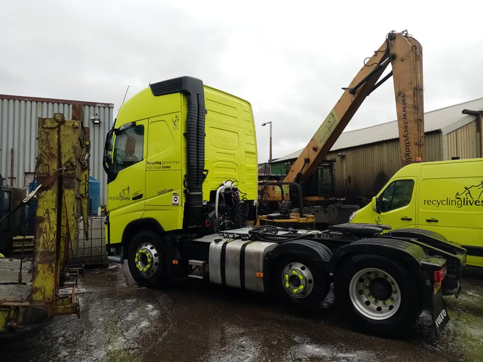 Recyclinglives Recycling Partnerships Volvo 500 Tractor unit