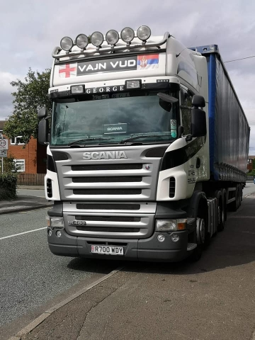 Woody's Haulage Scania R480 with Curtainsider trailer