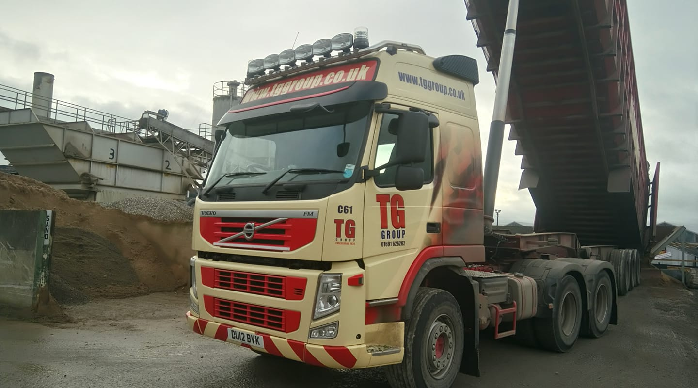 Tudor Griffiths Group Volvo FM Cab with Tipper Trailer