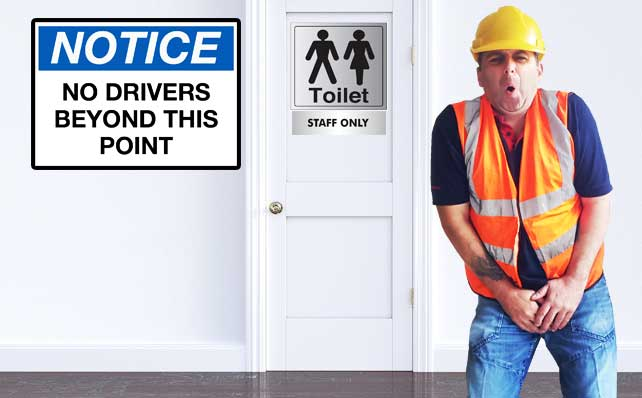 Truck Drivers Toilet Facilities
