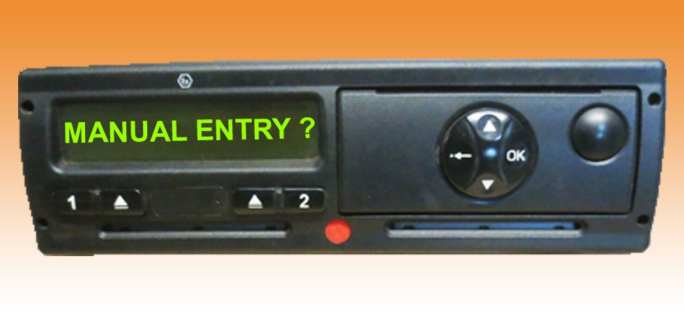 digital tachograph manual entry how to
