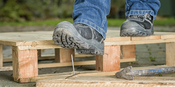 Ankle safety work boots